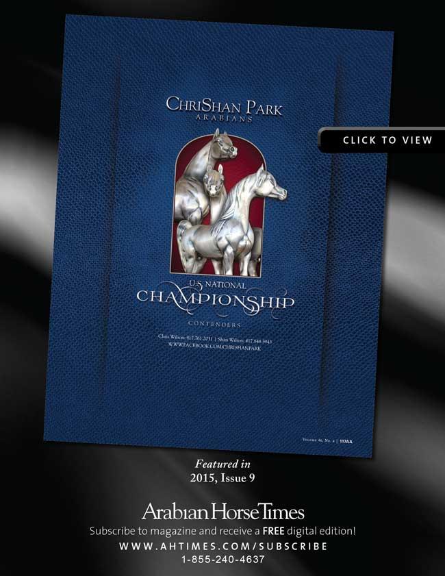 ChriShan Park Arabians' U.S. National Championship Contenders