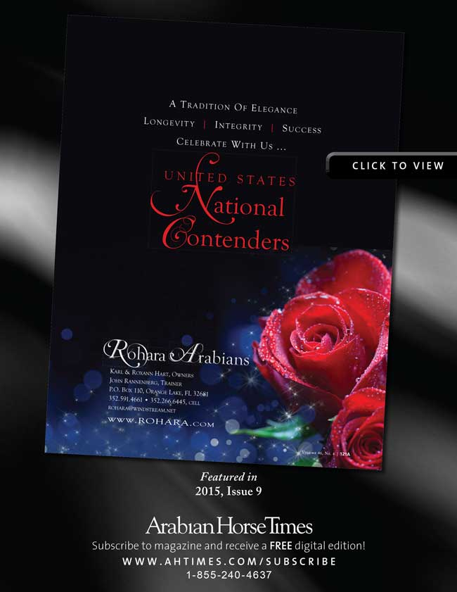 Rohara Arabians' U.S. National Contenders